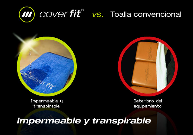 La toalla impermeable y transpirable